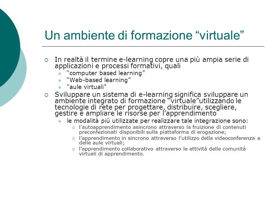 Un ambiente di formazione virtuale