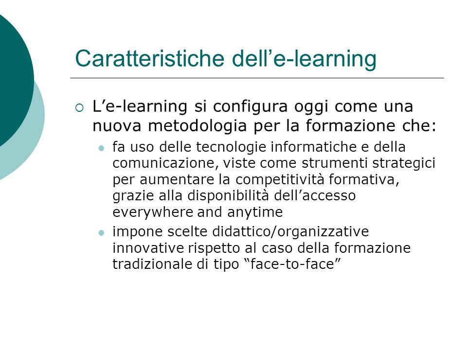 Caratteristiche dell'e-learning