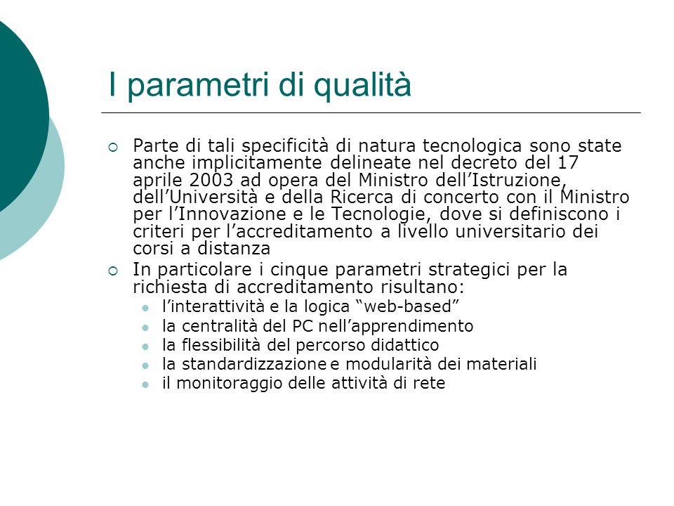 I parametri di qualità