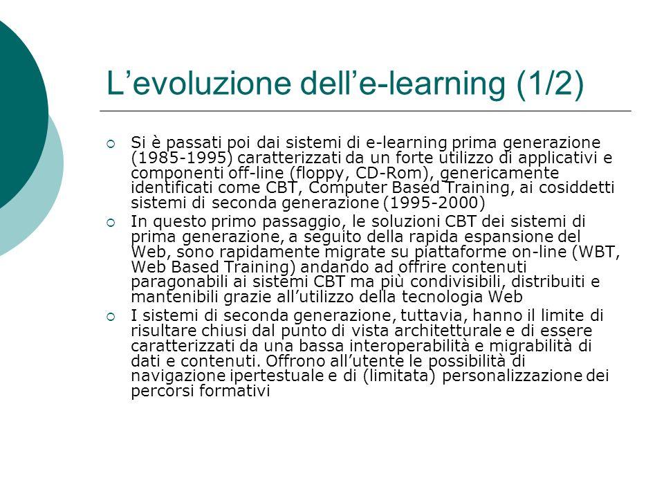 L'evoluzione dell'e-learning (1/2)