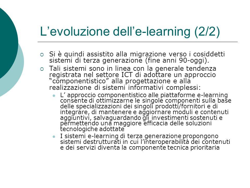 L'evoluzione dell'e-learning (2/2)