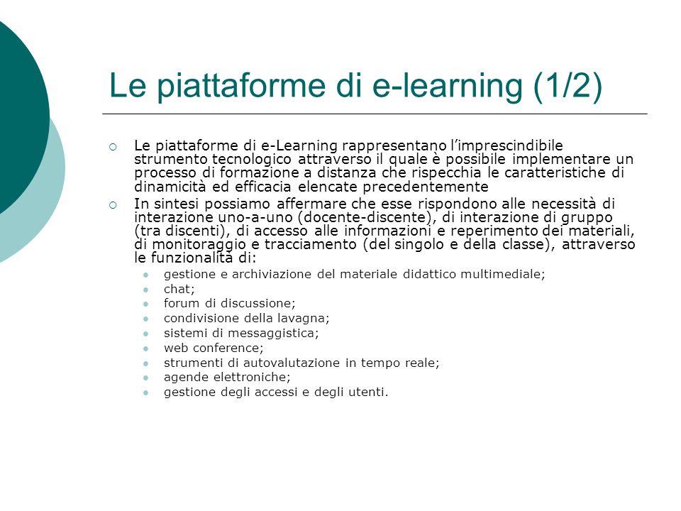 Le piattaforme di e-learning (1/2)