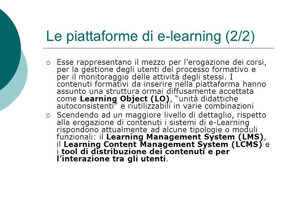 Le piattaforme di e-learning (2/2)