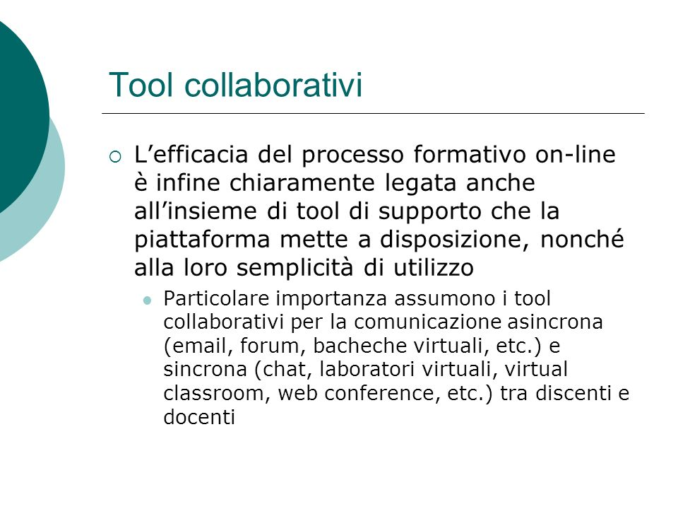 Tool collaborativi