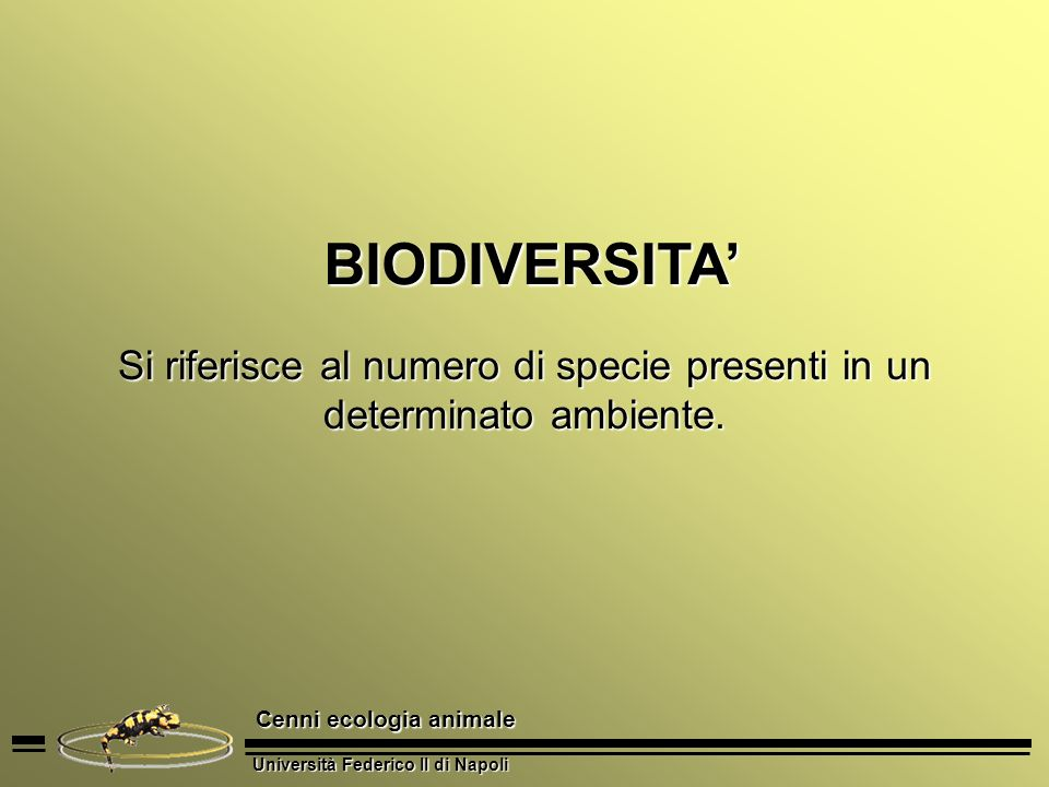 Si riferisce al numero di specie presenti in un determinato ambiente.