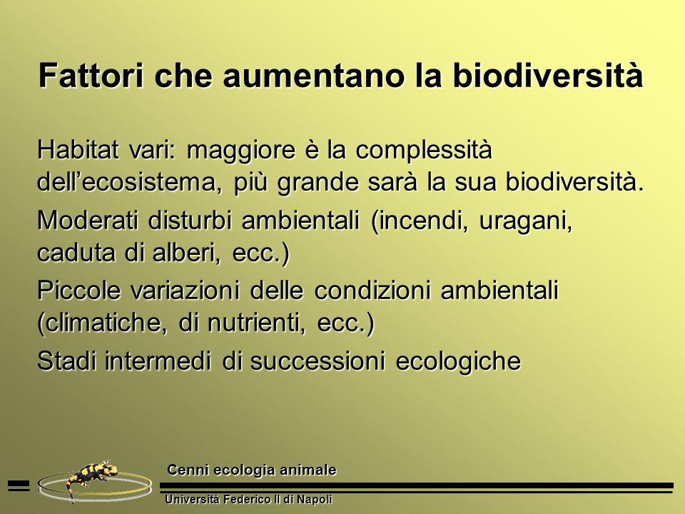 Fattori che aumentano la biodiversità