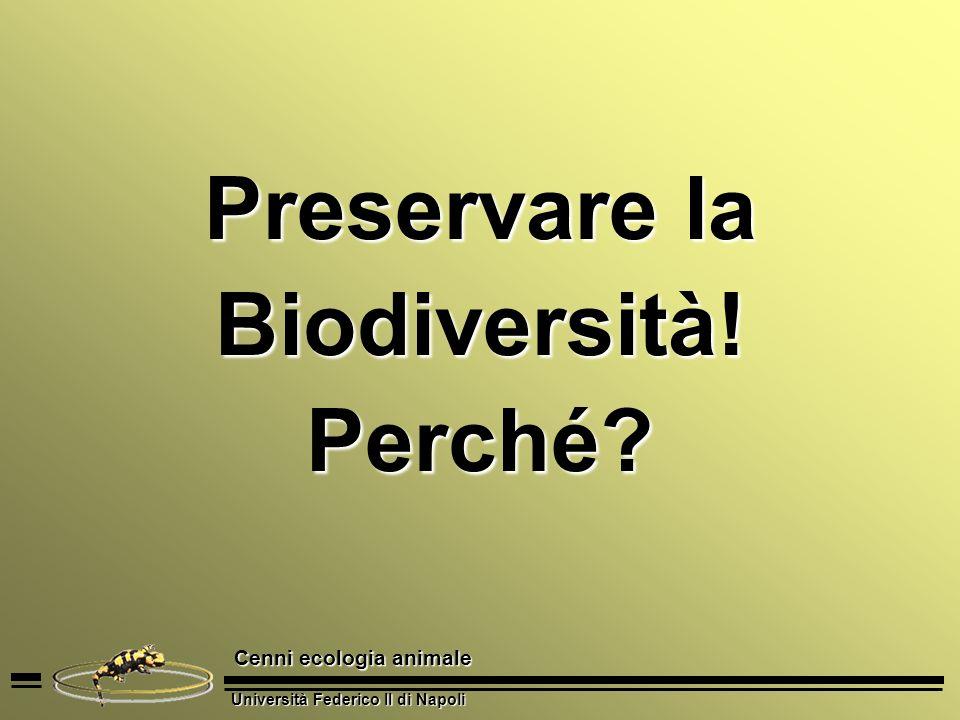 Preservare la Biodiversità! Perché