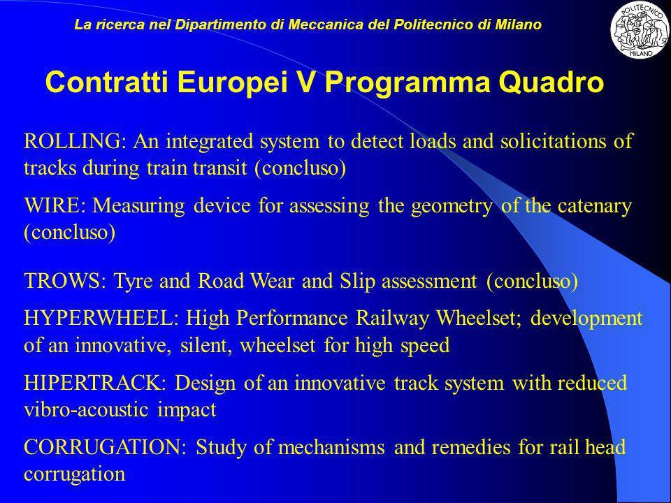 Contratti Europei V Programma Quadro