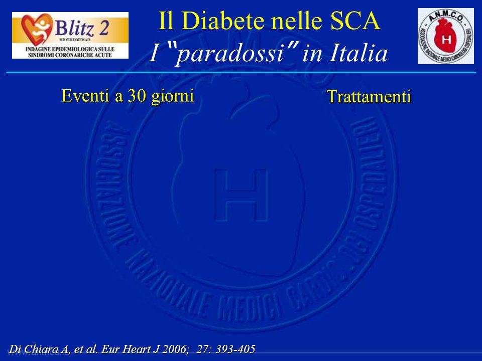 Il Diabete nelle SCA I paradossi in Italia