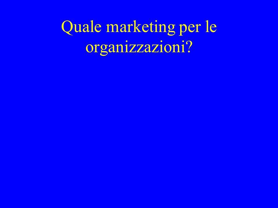 Quale marketing per le organizzazioni