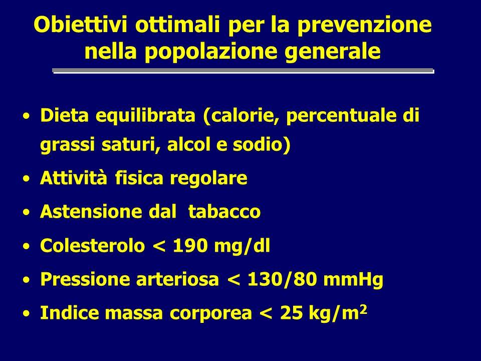Obiettivi ottimali per la prevenzione nella popolazione generale