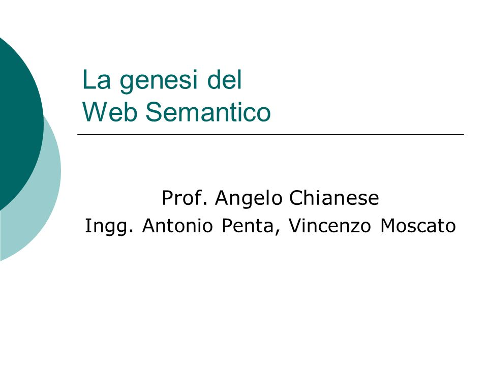 La genesi del Web Semantico