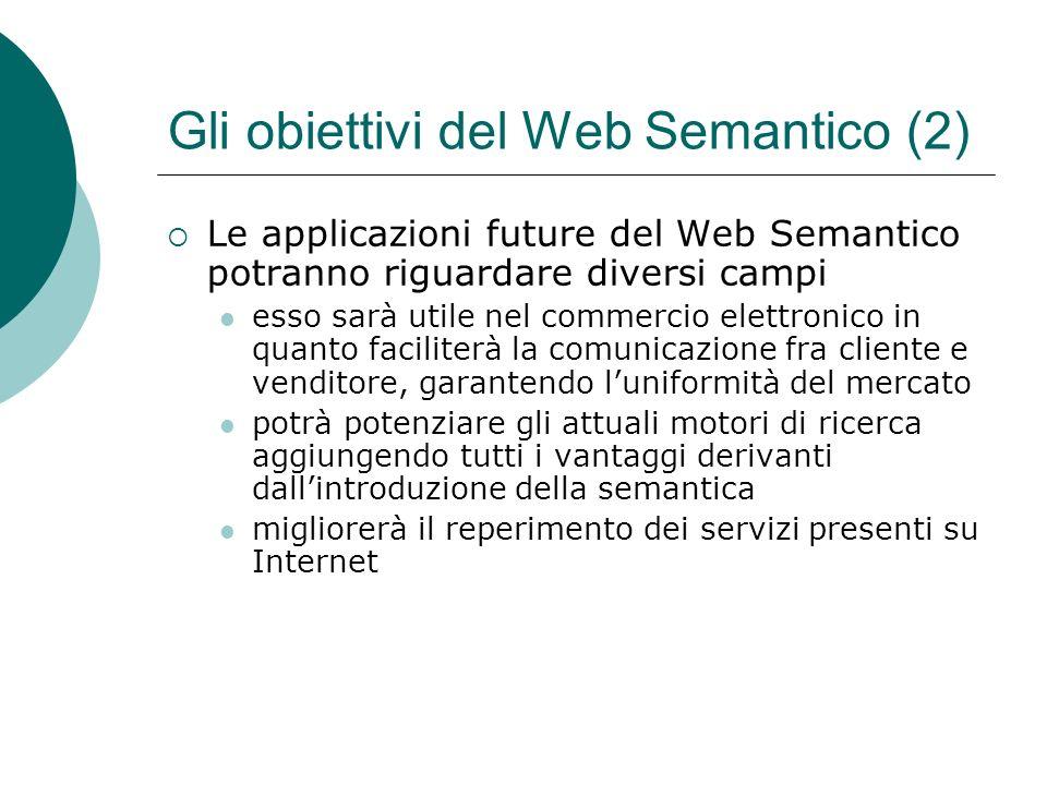Gli obiettivi del Web Semantico (2)