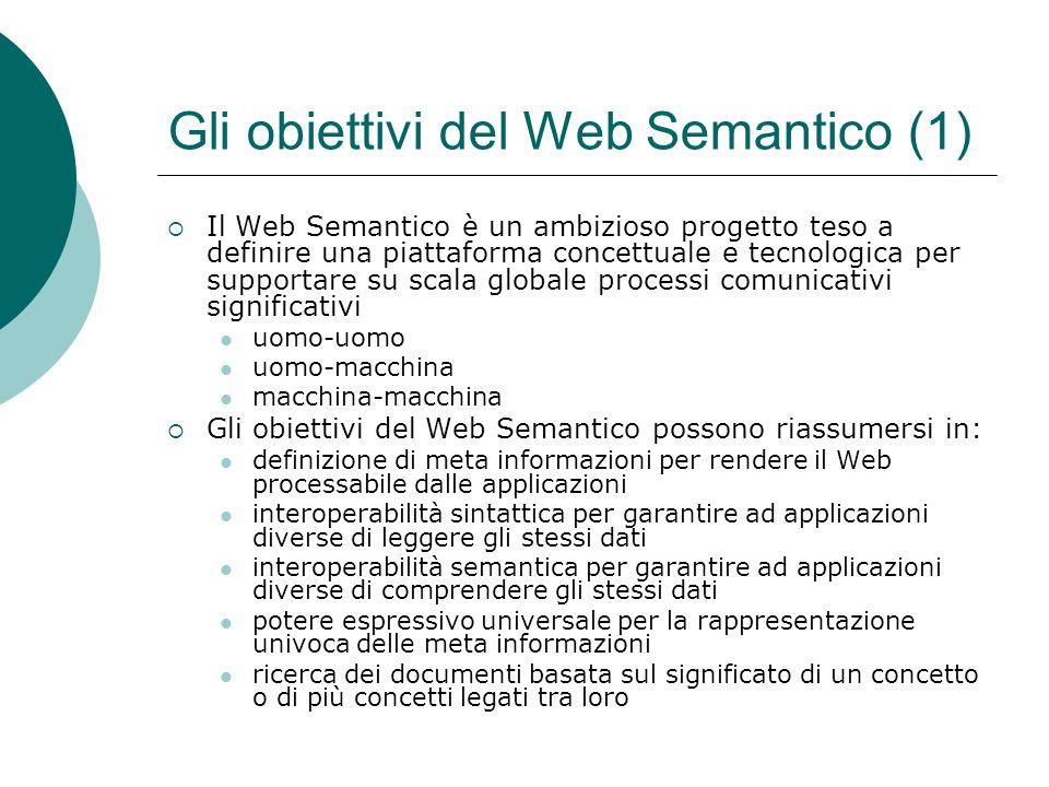 Gli obiettivi del Web Semantico (1)