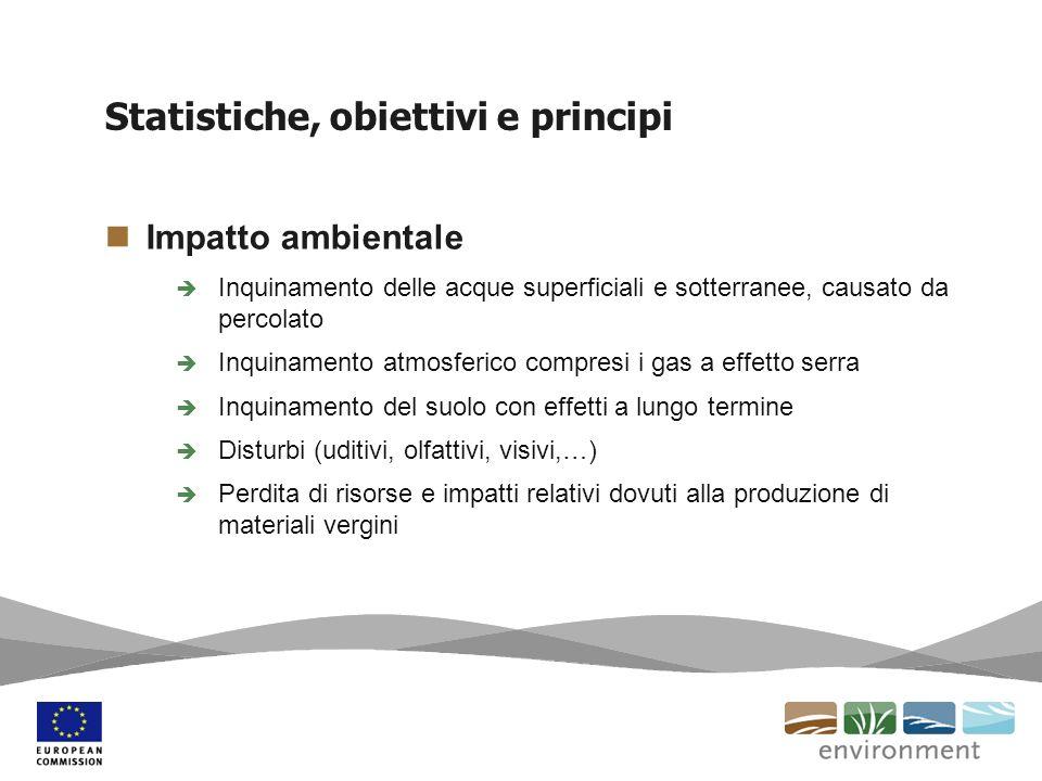 Statistiche, obiettivi e principi