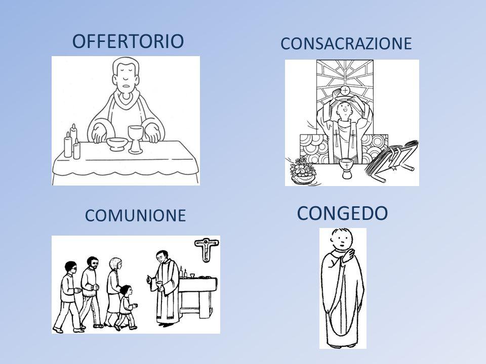OFFERTORIO CONSACRAZIONE CONGEDO COMUNIONE
