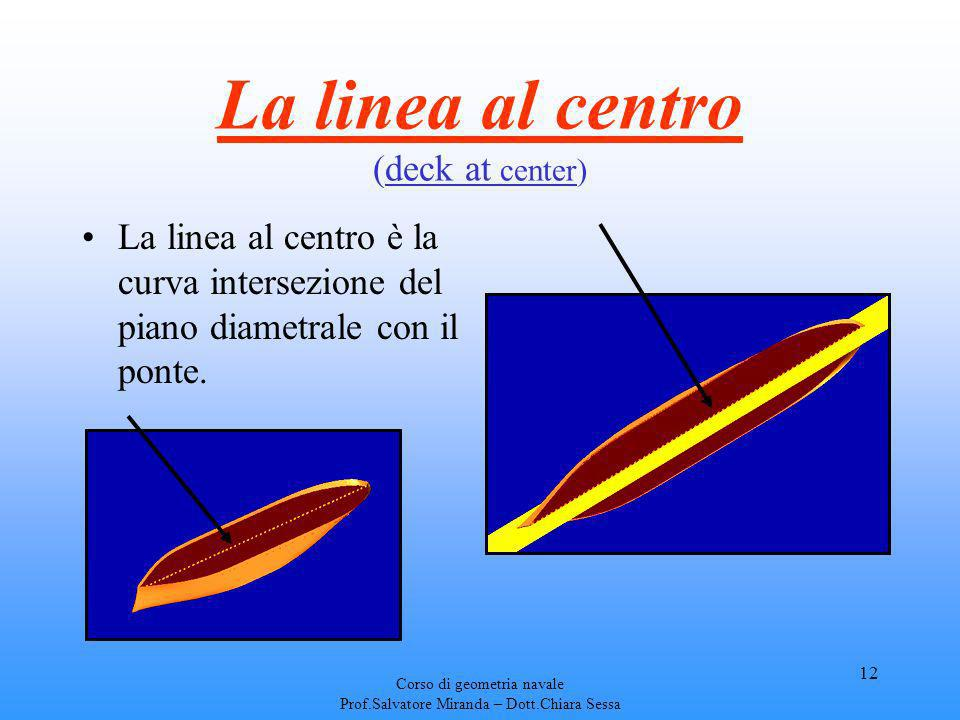 La linea al centro (deck at center)