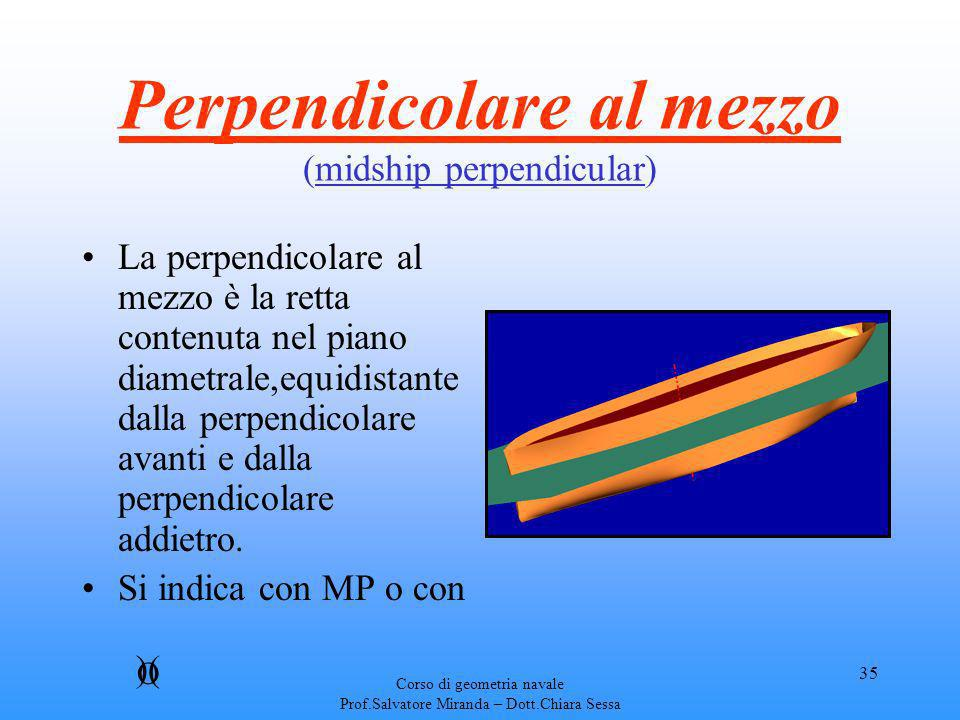 Perpendicolare al mezzo (midship perpendicular)