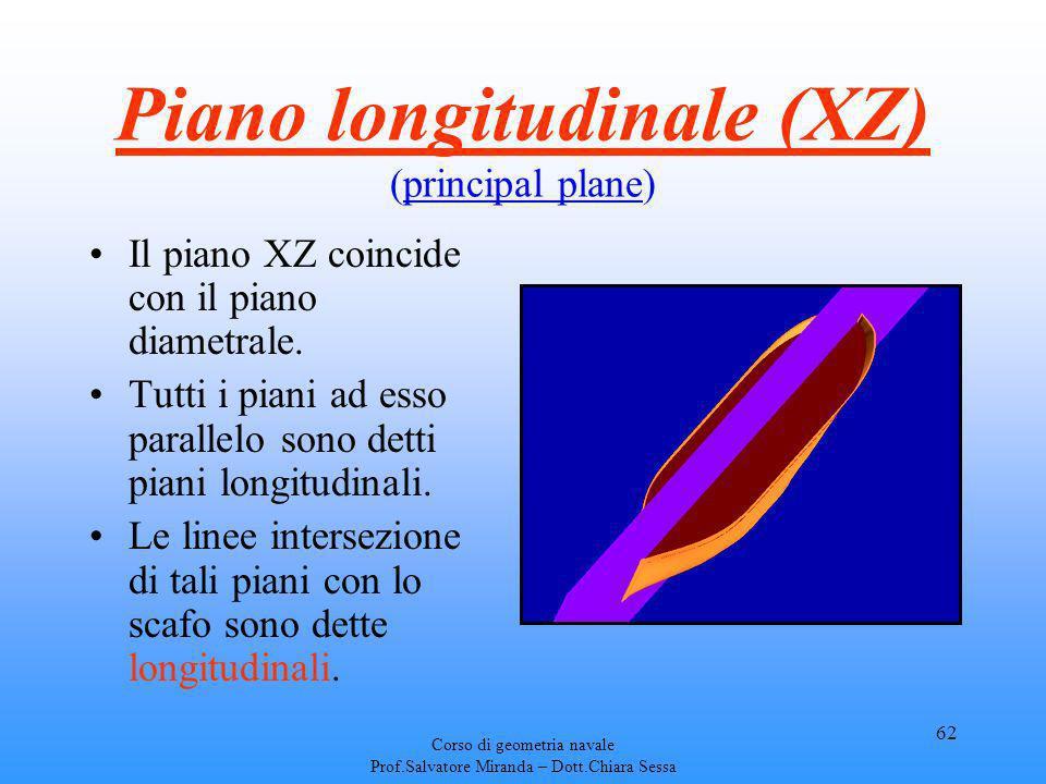 Piano longitudinale (XZ) (principal plane)