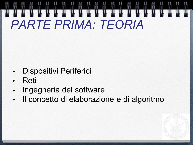 PARTE PRIMA: TEORIA Dispositivi Periferici Reti