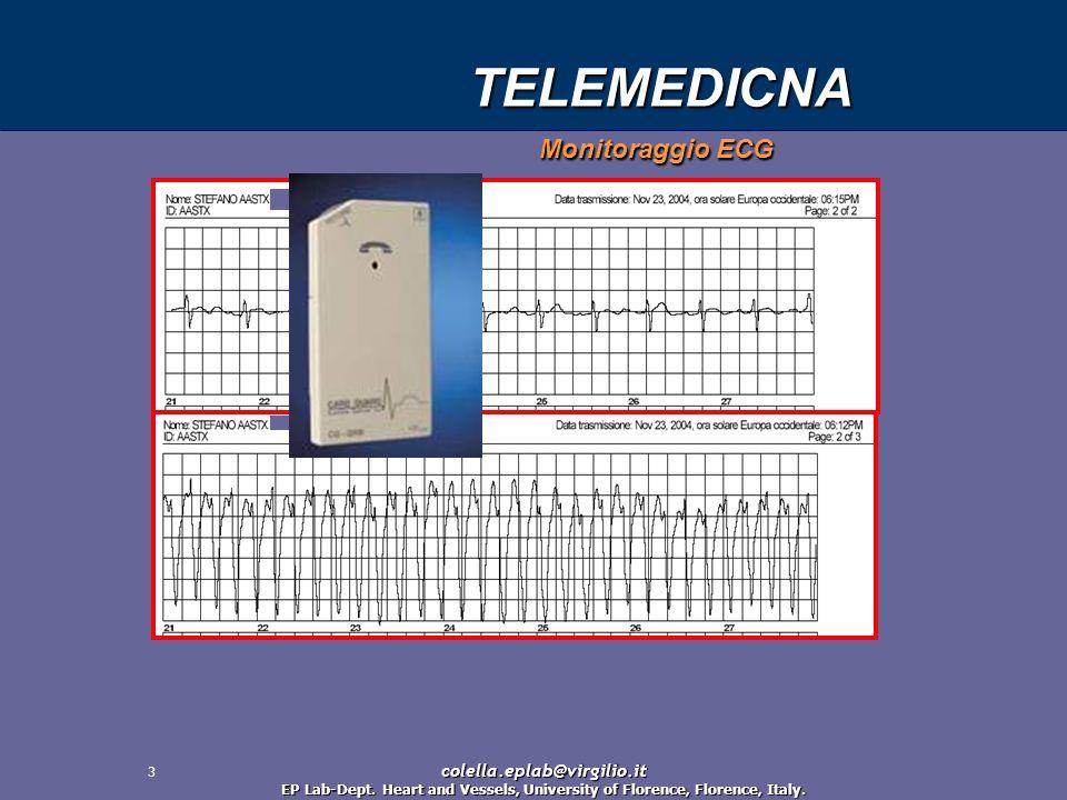 TELEMEDICNA Monitoraggio ECG