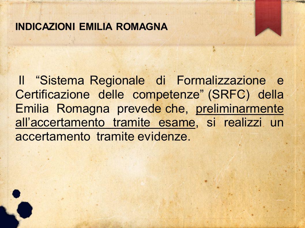 INDICAZIONI EMILIA ROMAGNA