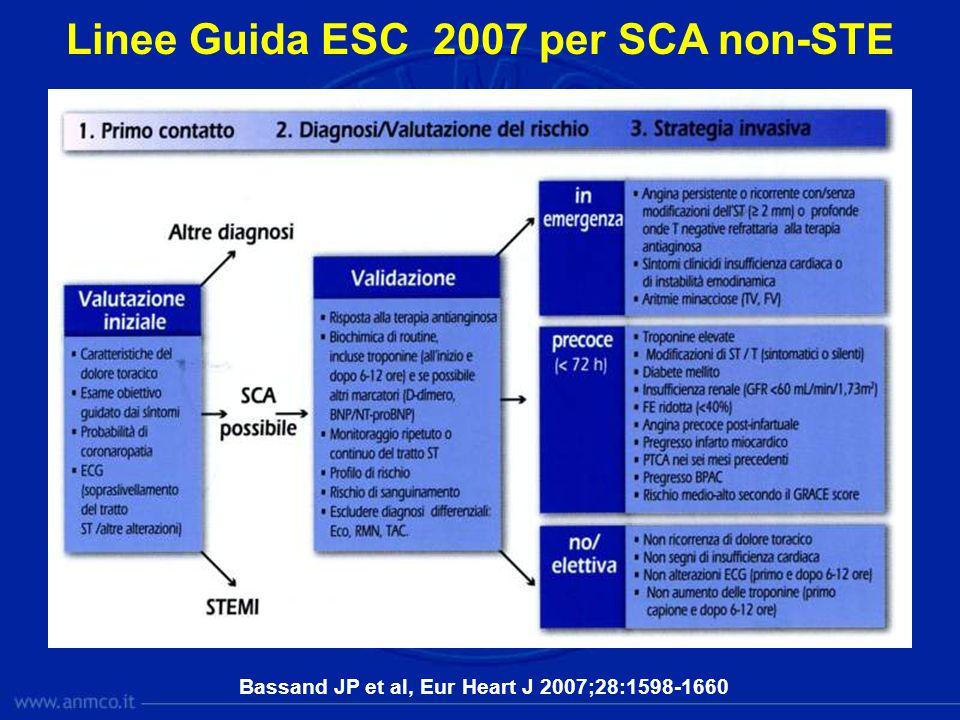 Linee Guida ESC 2007 per SCA non-STE