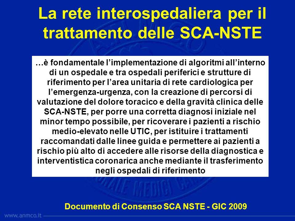 La rete interospedaliera per il trattamento delle SCA-NSTE