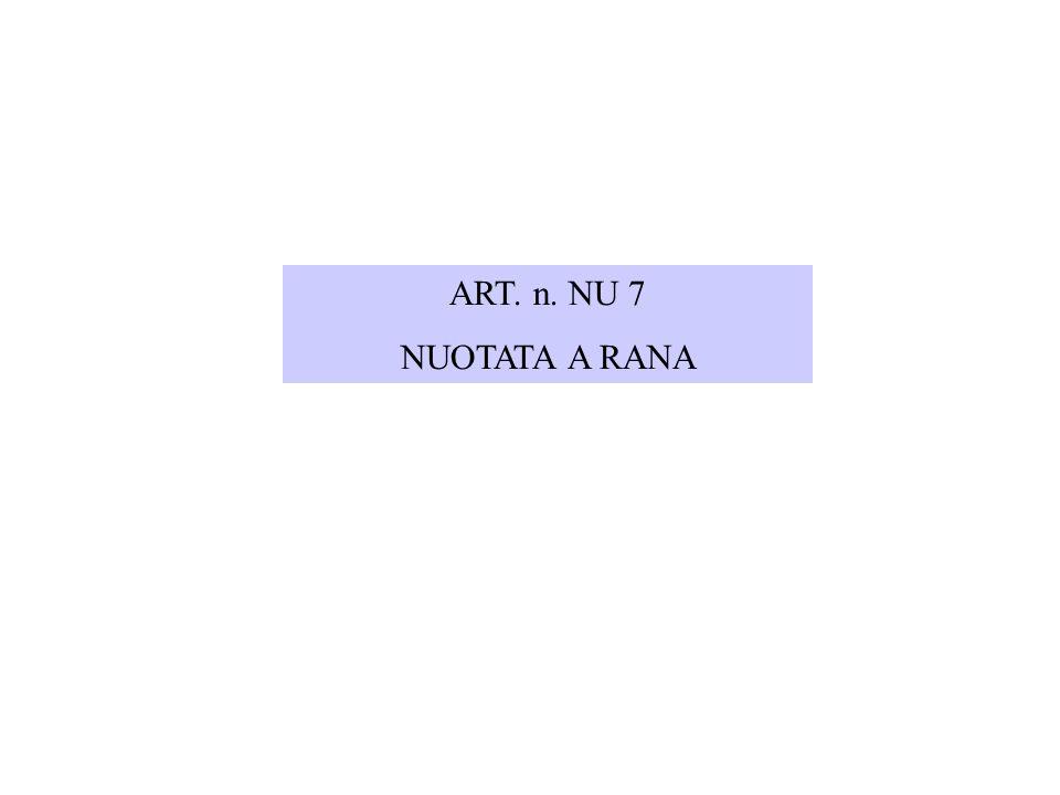 ART. n. NU 7 NUOTATA A RANA