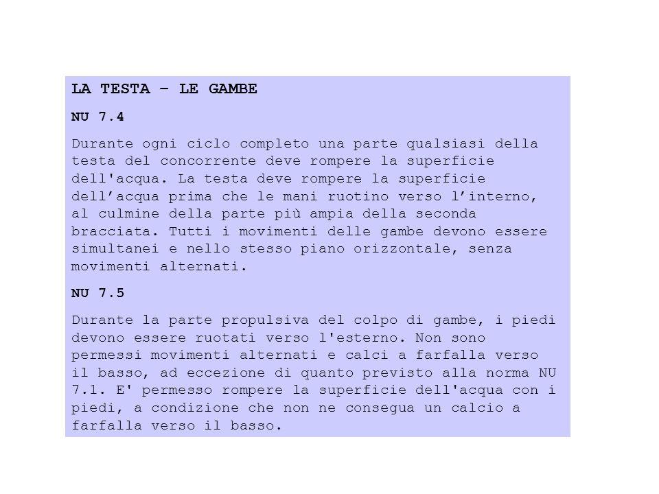 LA TESTA – LE GAMBE NU 7.4.