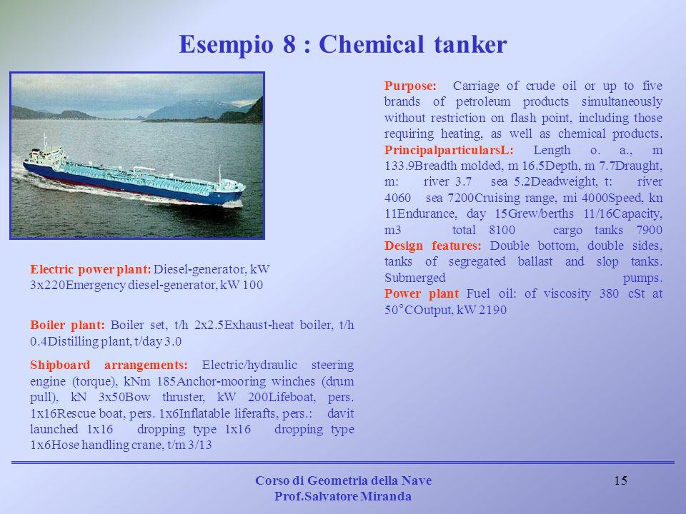 Esempio 8 : Chemical tanker