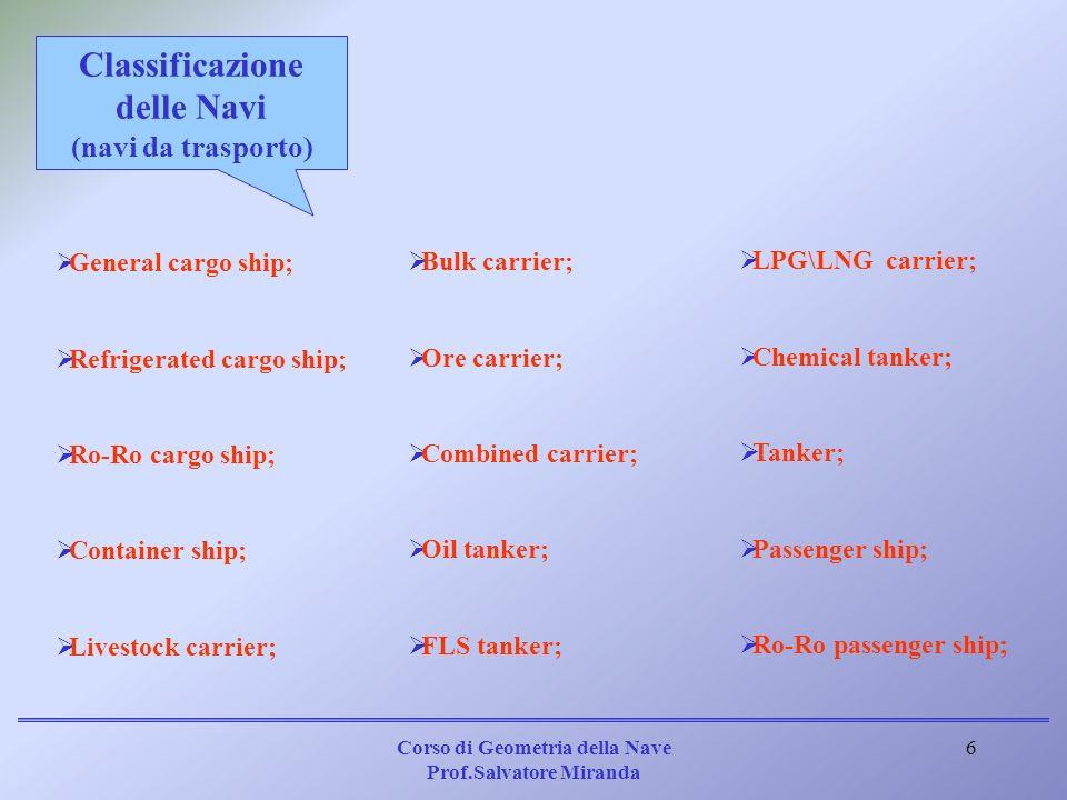 Classificazione delle Navi (navi da trasporto)