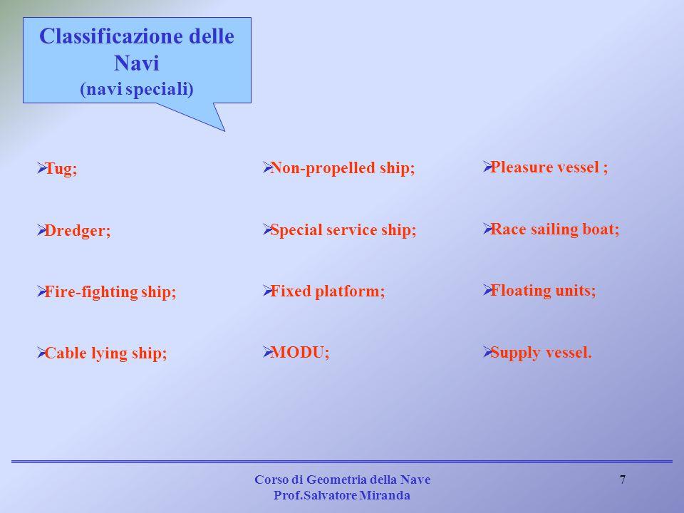 Classificazione delle Navi (navi speciali)