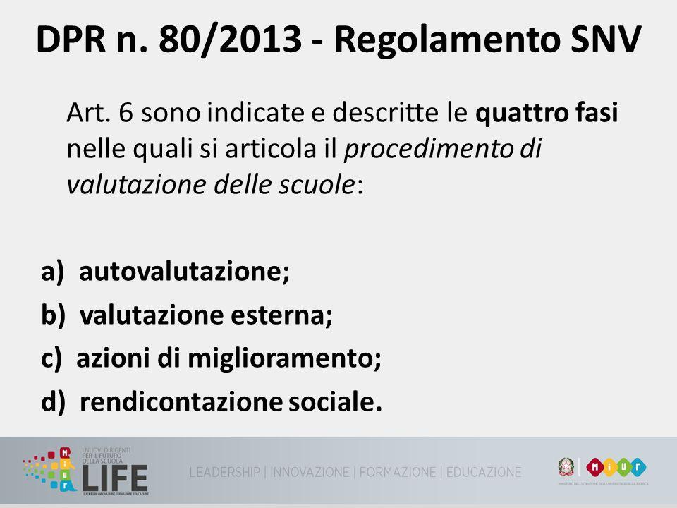 DPR n. 80/2013 - Regolamento SNV
