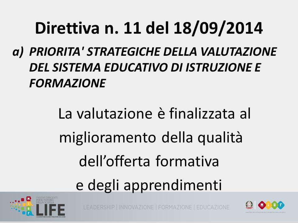 Direttiva n. 11 del 18/09/2014 miglioramento della qualità