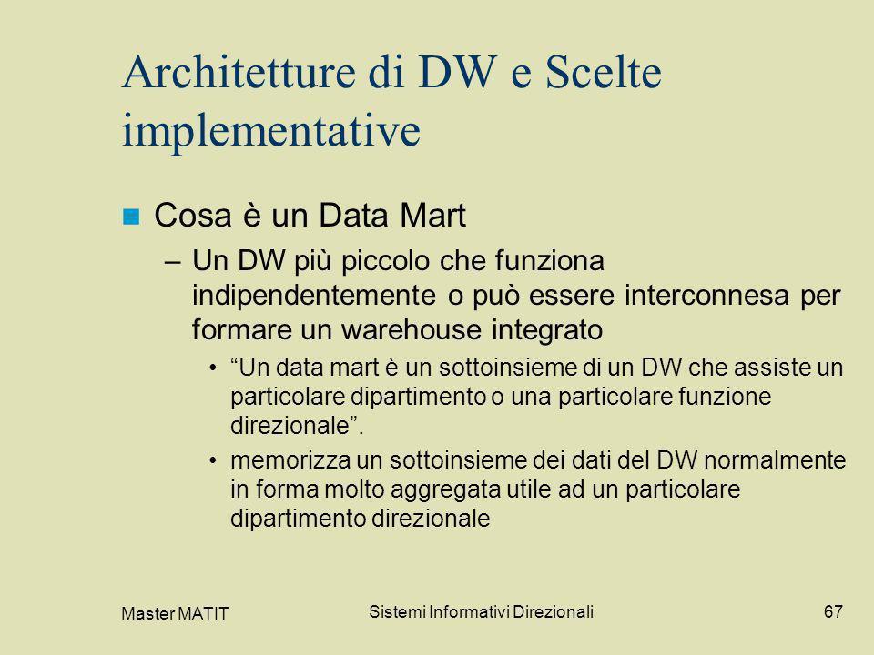 Architetture di DW e Scelte implementative