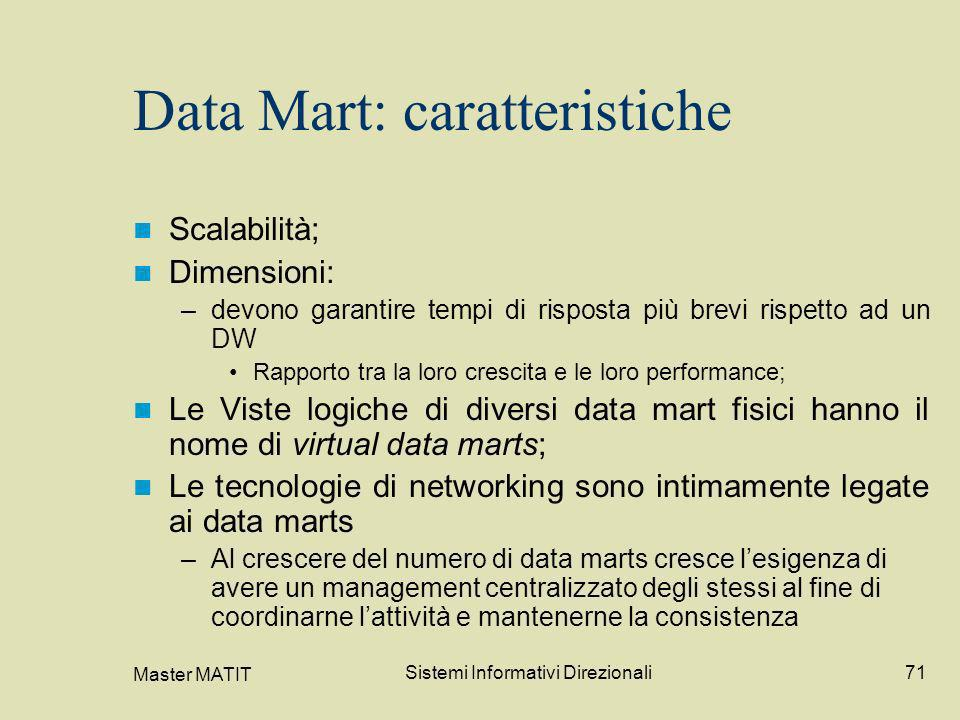 Data Mart: caratteristiche