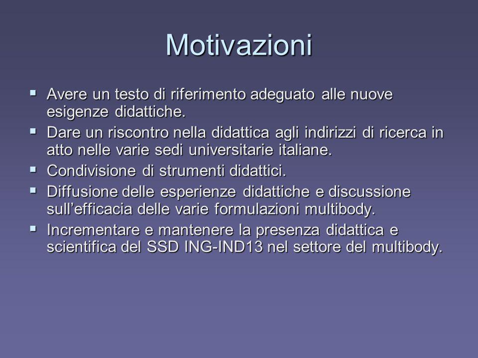 Motivazioni Avere un testo di riferimento adeguato alle nuove esigenze didattiche.