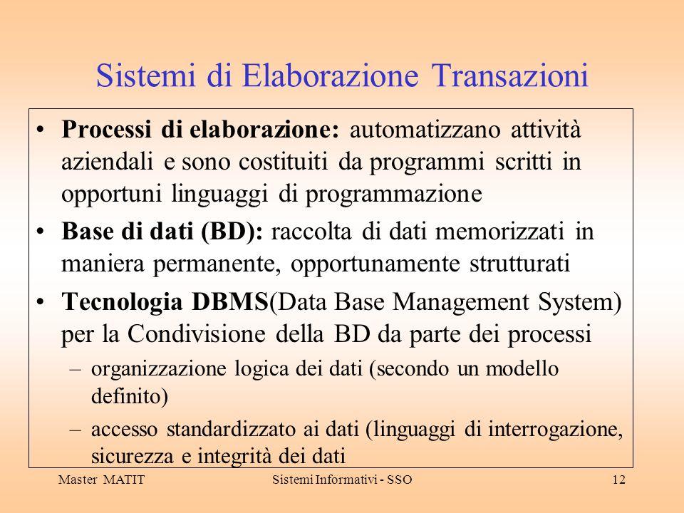 Sistemi di Elaborazione Transazioni