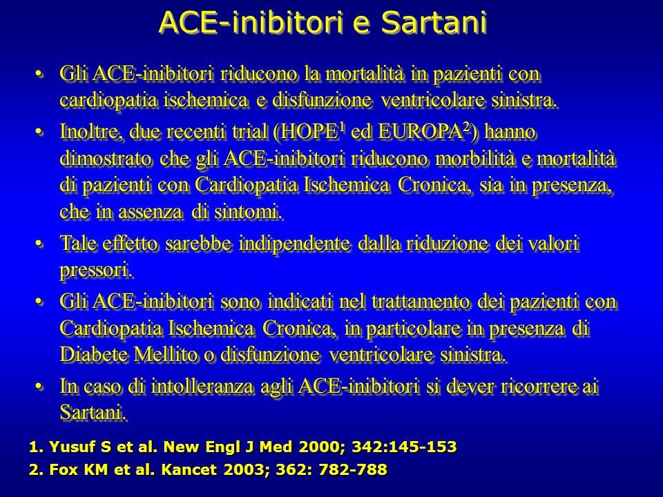 ACE-inibitori e Sartani