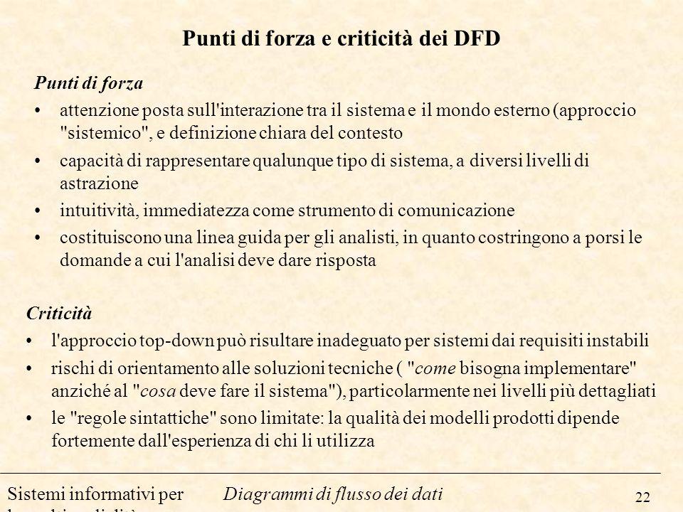 Punti di forza e criticità dei DFD