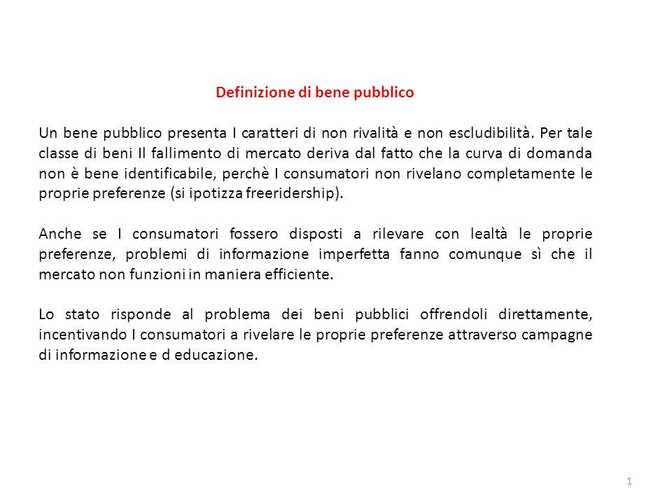 Definizione di bene pubblico