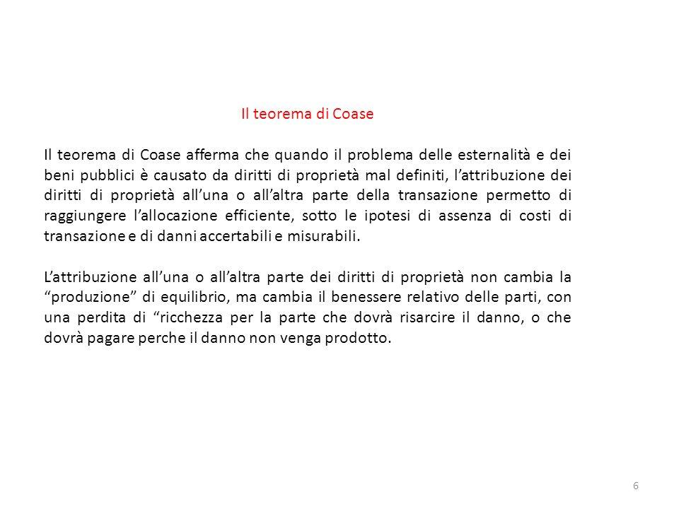Il teorema di Coase