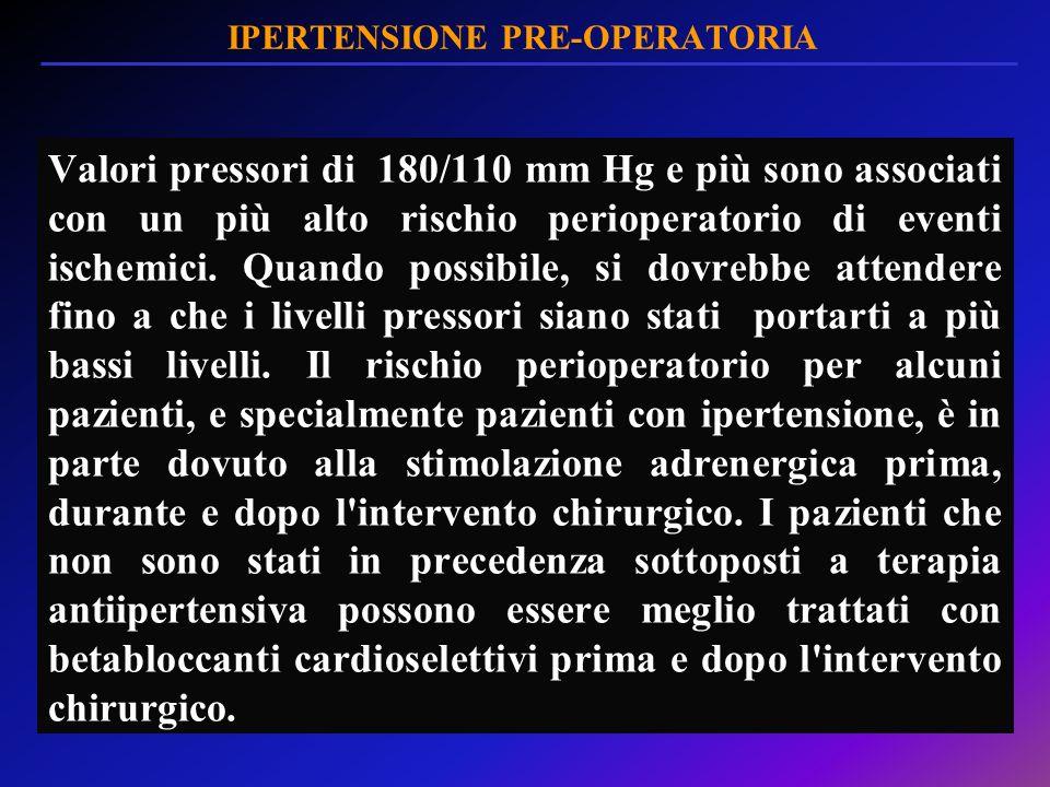 IPERTENSIONE PRE-OPERATORIA