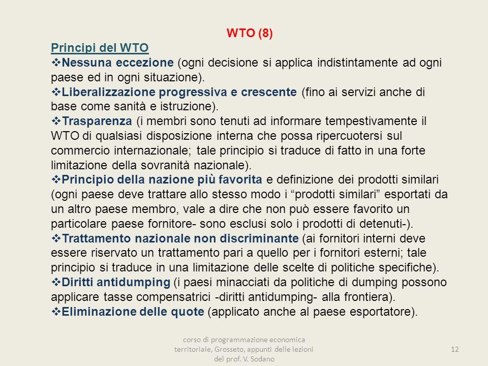 Eliminazione delle quote (applicato anche al paese esportatore).