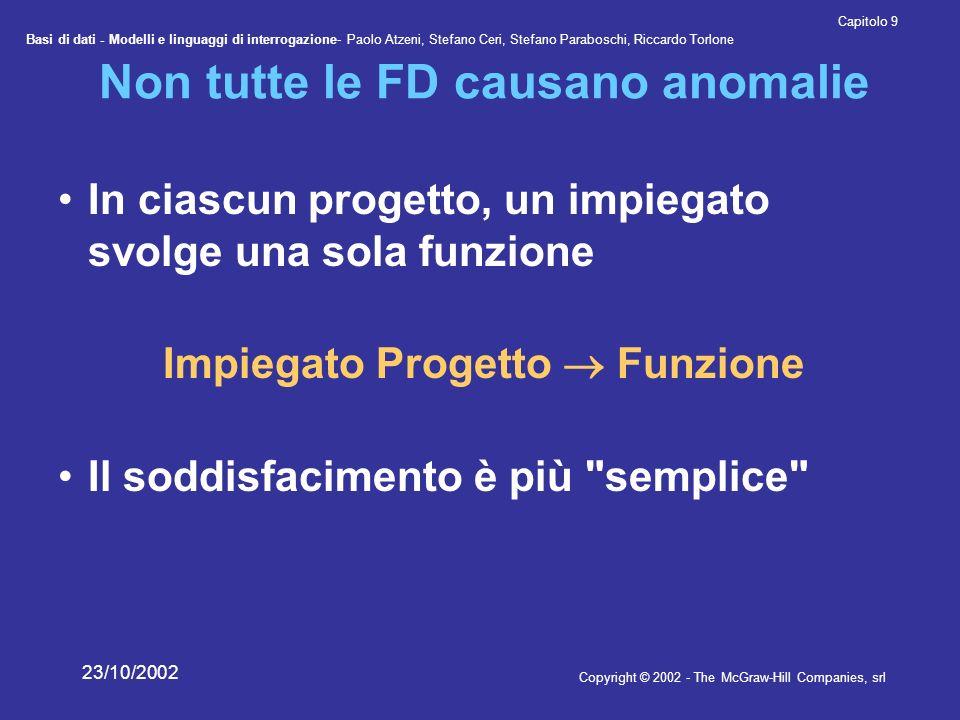 Non tutte le FD causano anomalie