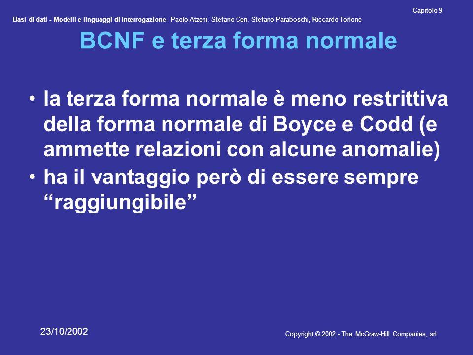 BCNF e terza forma normale