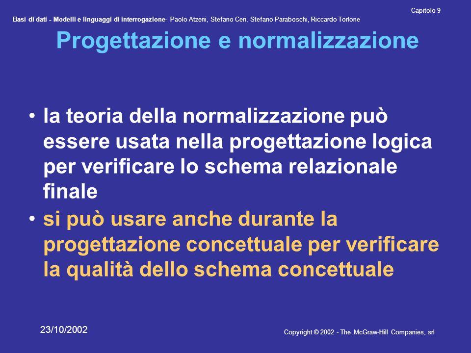 Progettazione e normalizzazione