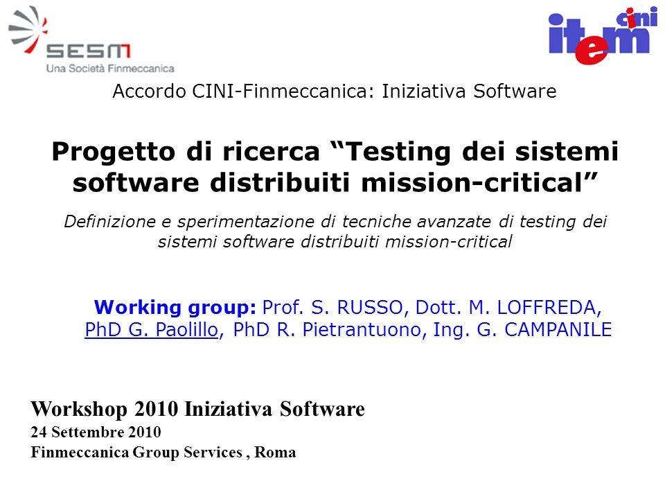 Accordo CINI-Finmeccanica: Iniziativa Software