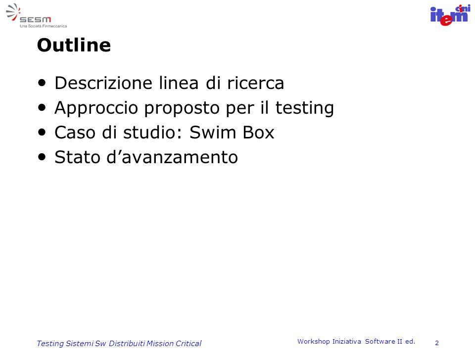 Outline Descrizione linea di ricerca Approccio proposto per il testing